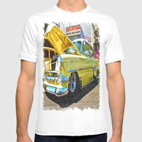 Classic Chevy Belair Mens Fitted Tee White SMALL
