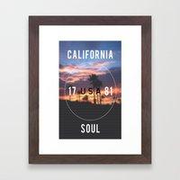 California.  Framed Art Print