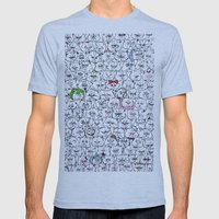 Flat-Faced Kitties Mens Fitted Tee Athletic Blue SMALL