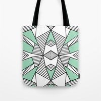 Triangle Tribal Mint Tote Bag