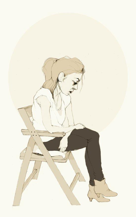 girl sitting Canvas Print