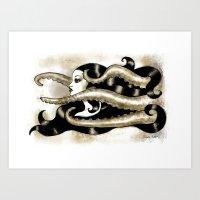 Encre Marine Art Print