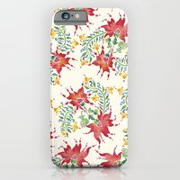 Dragon Flower Watercolor iPhone 6 Slim Case