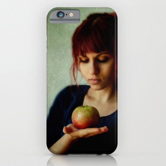 the girl with the apple iPhone & iPod Case