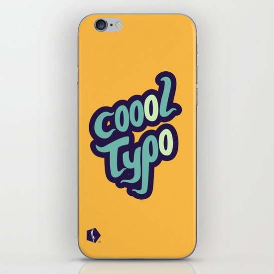Coool Typo iPhone & iPod Skin
