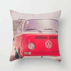 Red Ride Throw Pillow