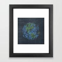 Worn Out World Framed Art Print