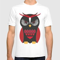 Evil Owl Mens Fitted Tee White SMALL