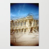 Canvas Print featuring Jardin des Plantes Multiple Exposure by istillshootfilm
