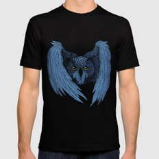 Night Owl SMALL Mens Fitted Tee Black