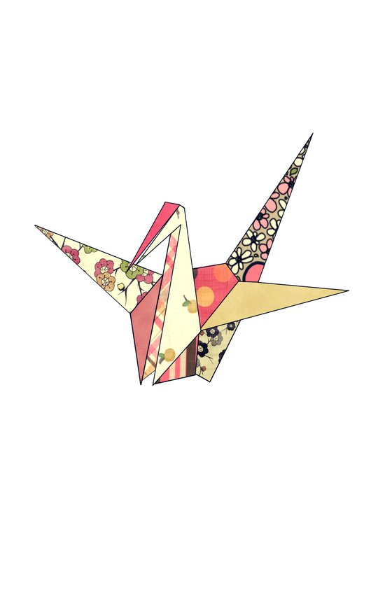 Floral Origami Art Print