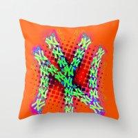 Neon York Throw Pillow