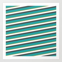 diagonal striped shirt Art Print