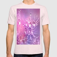 Lavender Dandelion Dew Mens Fitted Tee Light Pink SMALL