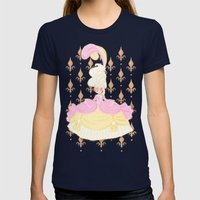 Marie Antoinette  Womens Fitted Tee Navy SMALL