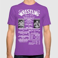 #16-B Memphis Wrestling … Mens Fitted Tee Ultraviolet SMALL