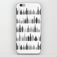 Bottles Black and White on White iPhone & iPod Skin