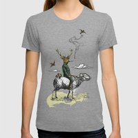 Cavalry Womens Fitted Tee Tri-Grey SMALL