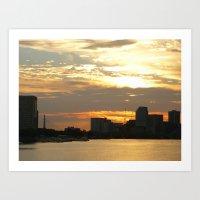 Charles River Sunrise Ph… Art Print
