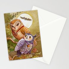 Someone To Watch Over Me ~ Owls in moonlight Stationery Cards