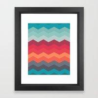 Color Strips Pattern Framed Art Print