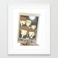 One Direction Story of My Life Cartoon Framed Art Print