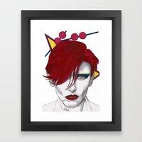 Ziggy Girl Framed Art Print