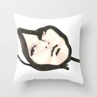 Ink face Throw Pillow
