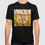 Mustard Plant Mens Fitted Tee Tri-Black SMALL