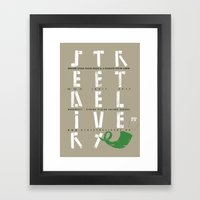 Street Delivery Framed Art Print