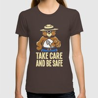 Take Care  Womens Fitted Tee Brown SMALL
