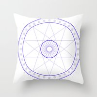 Anime Magic Circle 10 Throw Pillow