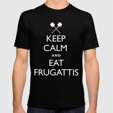 EAT FRUGATTI'S SMALL Black Mens Fitted Tee