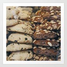 Almond Cookies - Food Kitchen Photography Art Print