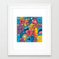 Weird Bros Framed Art Print