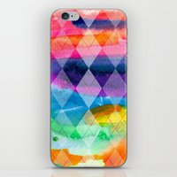 Argyle and Watercolor Abstract iPhone & iPod Skin