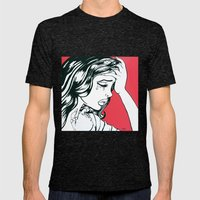 Crying Red Vintage Comic… Mens Fitted Tee Tri-Black SMALL