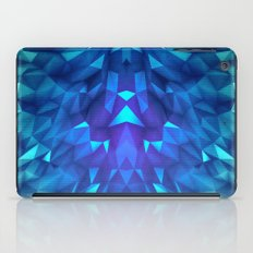 Deep Blue Collosal Low Poly Triangle Pattern -  Modern Abstract Cubism  Design iPad Case