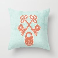 Keys And Lock Throw Pillow