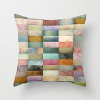 Patchwork Textures Throw Pillow