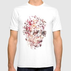 David Bowie Mens Fitted Tee White SMALL