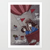 Through The Clouds And B… Art Print