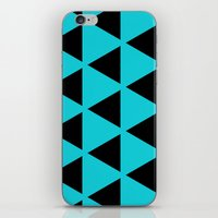 Sleyer Black On Blue Pat… iPhone & iPod Skin
