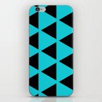 Sleyer Black on Blue Pattern iPhone & iPod Skin
