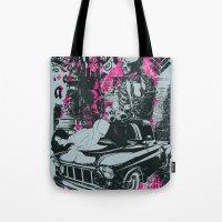 Pin up Car Tote Bag
