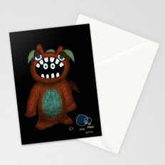 Scared Monster Stationery Cards