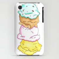 iPhone Cases featuring Ice cream by Inkwork