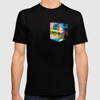 Alien Party Mens Fitted Tee Black SMALL