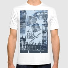 Anglophile Love Mens Fitted Tee SMALL White