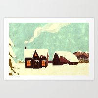 The Loving Home Of Bunny… Art Print